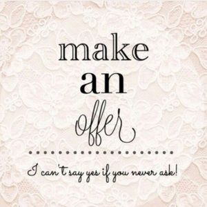 Make an offer! Or ask to bundle! 😉